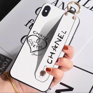 iPhoneケース iPhone7/8/X/XS オシャレ シャネル ベルト付き