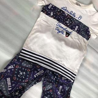DOUBLE.B - ミキハウス ダブルB Tシャツとパンツセット 120
