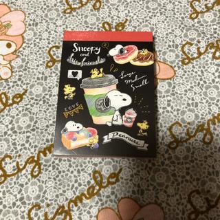 スヌーピー(SNOOPY)のスヌーピー カフェ ミニ メモ帳。(ノート/メモ帳/ふせん)