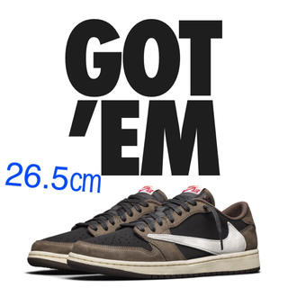 NIKE - NIKE AIR JORDAN1 LOW TRAVIS SCOTT 26.5