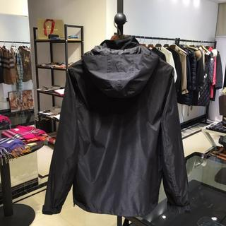バーバリー(BURBERRY)のBURBERRYいジャケットブラック薄メンズXXLサイズ(テーラードジャケット)