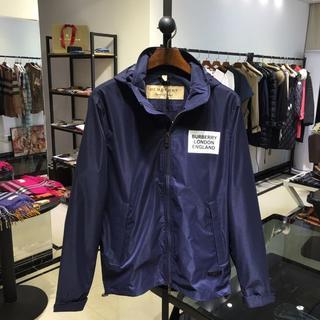 バーバリー(BURBERRY)のBURBERRYいジャケットダークブルー薄メンズXXLサイズ(テーラードジャケット)