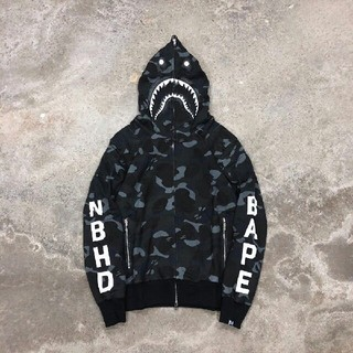 NEIGHBORHOOD x BAPE Shark Hooded パーカー