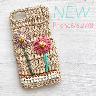 【新品】iPhoneケース ピンク フラワー