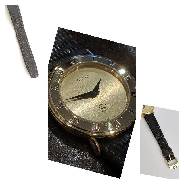 more photos ebaf1 067a1 【希少】グッチ ヴィンテージ 腕時計 レディース レザーベルト 人気