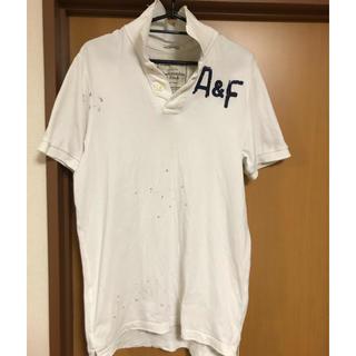 Abercrombie&Fitch - アバクロンビー&フィッチ ダメージ加工 ポロシャツ サイズM