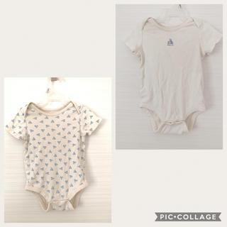 ベビーギャップ(babyGAP)のGAPベビー⭐︎半袖ロンパース⭐︎2枚セット(ロンパース)