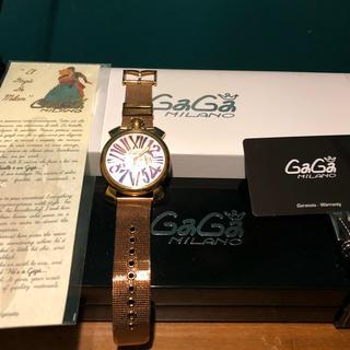 new style ca58c 46ed3 ガガミラノ GaGaMILANO マヌアーレ 46 腕時計 ゴールド