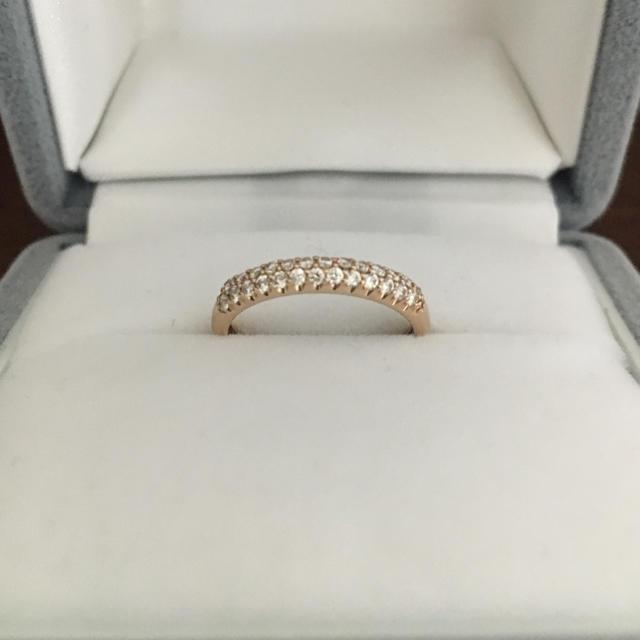 PonteVecchio(ポンテヴェキオ)のポンテヴェキオ パヴェ ダイヤモンド リング K18PG 0.21ct 1.7g レディースのアクセサリー(リング(指輪))の商品写真