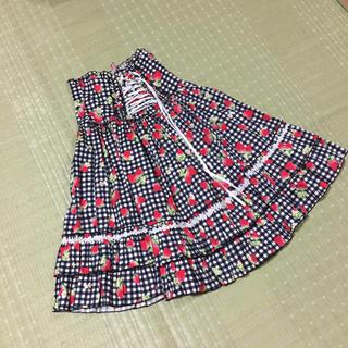 BODYLINE - ♡いちご柄♡スカート