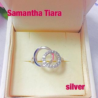 Samantha Tiara - (美品)サマンサティアラ  silver ダブルラウンド リング