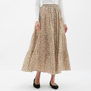 GU - GU ティアードフレアロングスカート Lサイズ