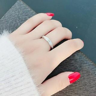 ブラスト加工*高品質ジルコニア*ステンレスリング*指輪*シルバー*14号(リング(指輪))