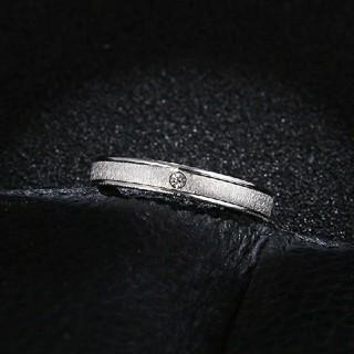 大きいサイズ22号*ブラスト加工高品質ジルコニアステンレスリング指輪*シルバー(リング(指輪))