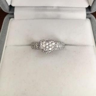 ポンテヴェキオ パヴェ ダイヤモンド リング K18WG 0.68ct 5.8g