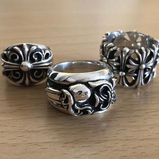 クロムハーツ(Chrome Hearts)の美品 クロムハーツ ダガーハートリング21号(リング(指輪))