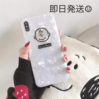 SNOOPY - クリスタル柄の可愛い♡ iPhoneケース チャーリーブラウン