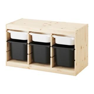 IKEA - 【新品・送料込】トロファスト★ホワイトSx3,ブラックx3