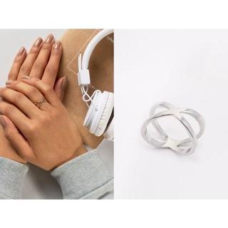 Asos X型 エターナル シルバー リング 指輪(リング(指輪))