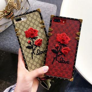 レッドのみ★SALE★薔薇の刺繍がゴージャスな iPhone 6/6s ケース
