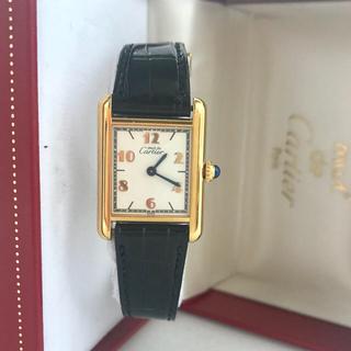 カルティエ(Cartier)の純正✨Cartierマストタンク6点アラビア文字盤レディース(腕時計)