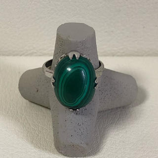 1034 シルバーリング 石付き (リング(指輪))