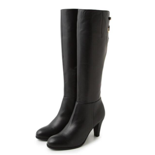Odette e Odile(オデットエオディール)の新品 Odette e Odileバックベルトコンビロングブーツ レディースの靴/シューズ(ブーツ)の商品写真