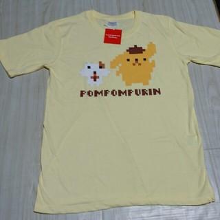 サンリオ(サンリオ)のポムポムプリン Tシャツ  メンズ M カラー イエロー サンリオ(Tシャツ/カットソー(半袖/袖なし))