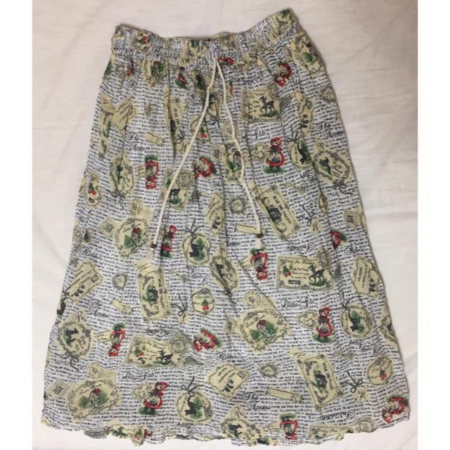☆匿名☆ 童話 赤ずきんちゃん ロングスカート レディースのスカート(ロングスカート)の商品写真