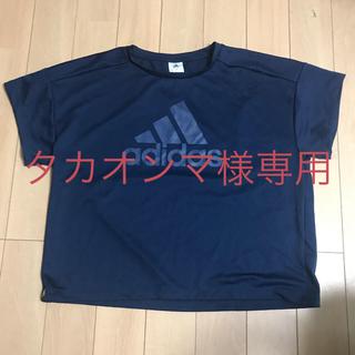 adidas - アディダス Tシャツ レディース ネイビー