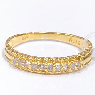 K18 ダイヤモンド 一文字リング(リング(指輪))
