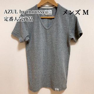AZUL by moussy - AZUL by moussy アズール 定番 Tシャツ 半袖 M グレー