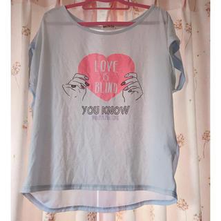 ウィゴー(WEGO)のWEGO バックシフォン ドルマンTシャツ(Tシャツ(半袖/袖なし))