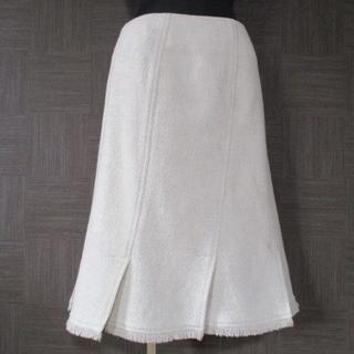 BURBERRY - バーバリー カシミヤ混スカート 44 三陽商会 大きいサイズ 秋冬