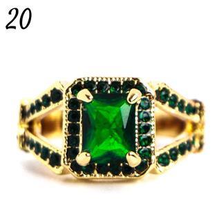 G9 リング 20号 人工石 グリーントパーズ ダブルライン 大きいサイズ(リング(指輪))