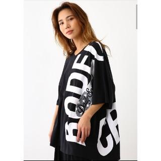 RODEO CROWNS WIDE BOWL - ブラック バリエーションリボンロゴTシャツ