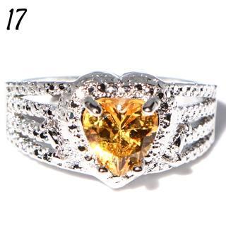 Y9 リング 17号 人工石 ハートシェイプ イエロー レディース(リング(指輪))
