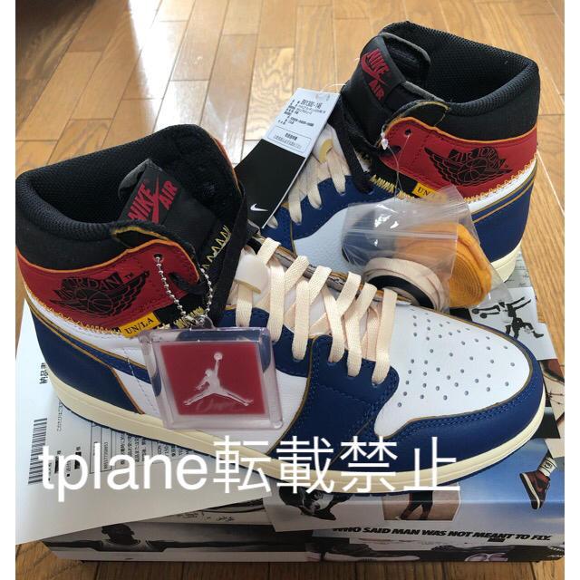 NIKE(ナイキ)の★値下げ!★ユニオンジョーダン1 jordan NIKEナイキ Union 28 メンズの靴/シューズ(スニーカー)の商品写真