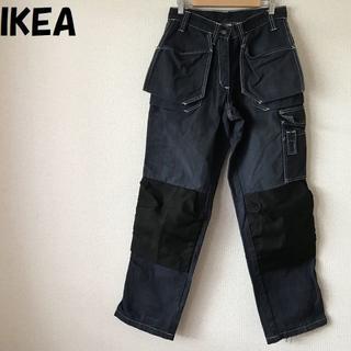 IKEA - 【人気】IKEA/イケア ロゴ付きワークパンツ ポケット多数 W30(76cm)