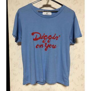 スライ(SLY)のSLY ブルー tee(Tシャツ(半袖/袖なし))