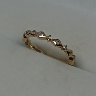 K10イエローゴールドダイヤモンドリング(リング(指輪))