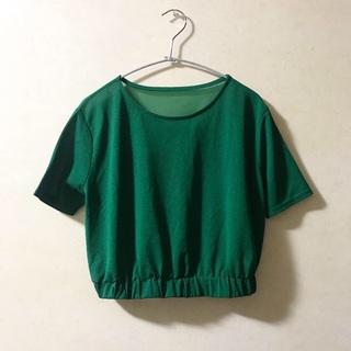 ビューティアンドユースユナイテッドアローズ(BEAUTY&YOUTH UNITED ARROWS)のsee-through green tops🌴(シャツ/ブラウス(半袖/袖なし))