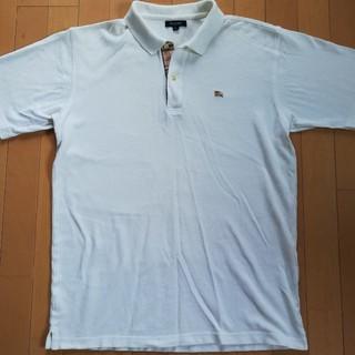 BURBERRY - バーバリーロンドンポロシャツホワイト白シンプル
