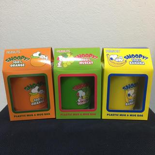 スヌーピー(SNOOPY)のSNOOPY スヌーピー プラスチックマグカップ・マグバッグセット(グラス/カップ)