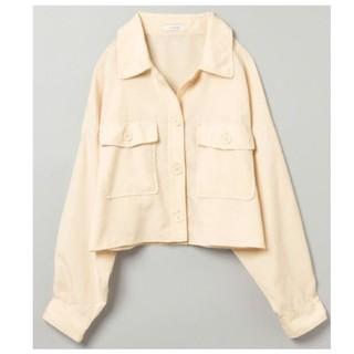 JEANASIS - 【JEANASIS】リネンライクBIGシャツジャケット