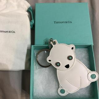 ティファニー(Tiffany & Co.)の【BOX箱付き】Tiffany ティファニー シロクマ キーホルダー(キーホルダー)