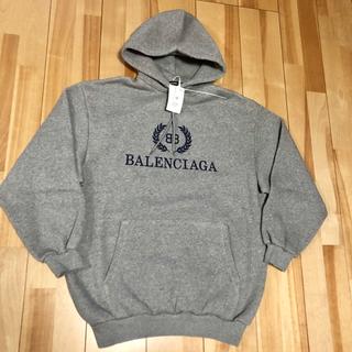 バレンシアガ(Balenciaga)の新品 100%本物 【XS】balenciagaロゴフーディー パーカー(パーカー)