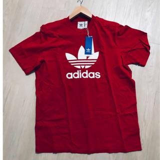 adidas originals Tシャツ 赤 L 新品未使用タグ付き