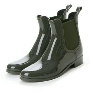 ファビオルスコーニ(FABIO RUSCONI)のお値下げ!ファビオルスコーニ  サイドゴアショートレインブーツ (カーキ)(レインブーツ/長靴)