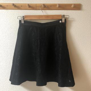 ラブレス(LOVELESS)の美品 ラブレス フレアスカート 黒 ブラック レース(ミニスカート)